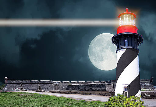 Full moon in St Augustine by Richard Burr
