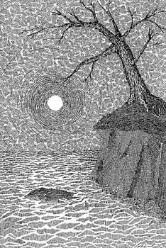 Full Moon on a Far Shore by Melanie Rochat