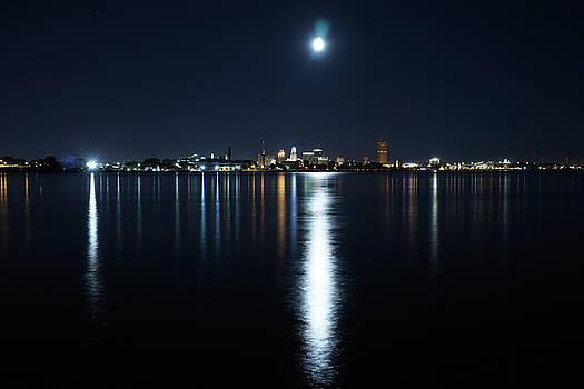 Full Moon Over Buffalo by Gary Campbell