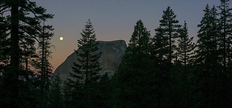 Full Moon Over Half Dome by Angie Schutt