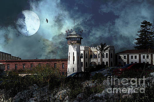 Wingsdomain Art and Photography - Full Moon Over Hard Time San Quentin California State Prison 7D18546 v2