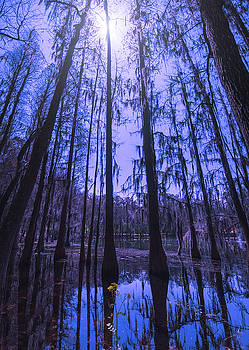 Full Moon over Spirit of Suwannee by Dawnfire Photography