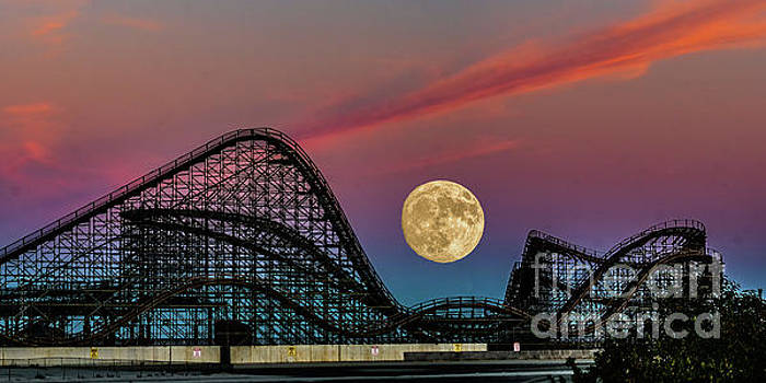 Nick Zelinsky - Full Moon over the Coaster