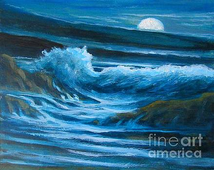 John Malone - Full Moon Seascape