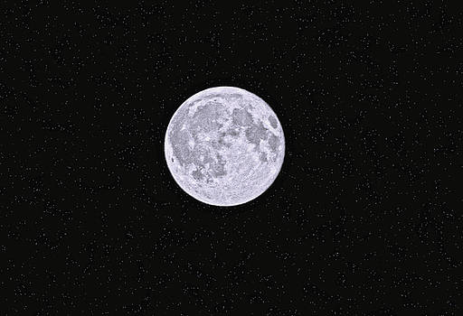 Full moon with stars  by Rob Mclean