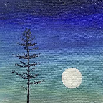 Full Pine Moon August by Susan E Hanna