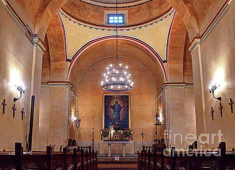 Fully Restored Interior Mission Concepcion San Antonio Texas by Wayne Moran