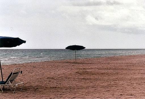 Fun Beach on Drab Day by Sabirah Lewis