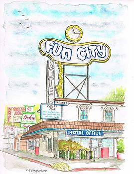 Fun City Motel, Las Vegas, Nevada by Carlos G Groppa