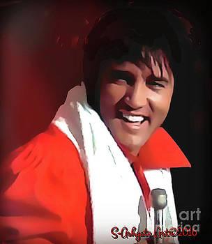 Fun Elvis Red by Scott Ashgate