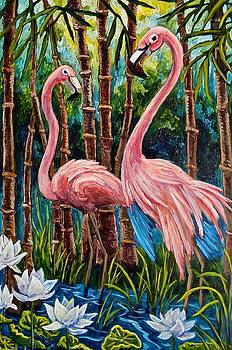 Fun Flamingos by Sebastian Pierre