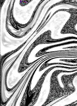 Funky Black White Colour Art Abstract by Miss Dawn