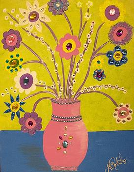 Funky flowers by Ginny Roberts