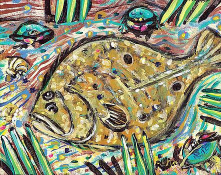 Funky Folk Flounder by Robert Wolverton Jr