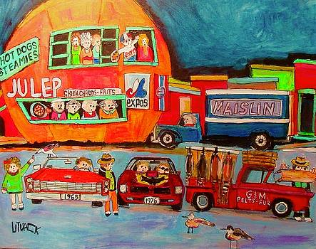Fur Traders at the Orange Julep by Michael Litvack