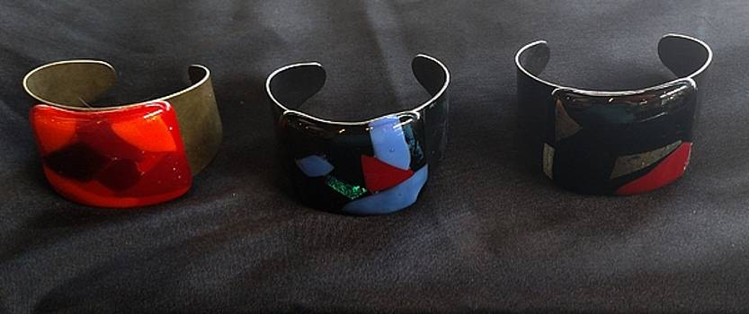 Fused glass bracelets by Lori Jacobus-Crawford
