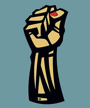 Future Is Female Empower Women Fist by Tony Rubino