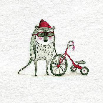Fuzzy Dude with Trike by Julia Collard