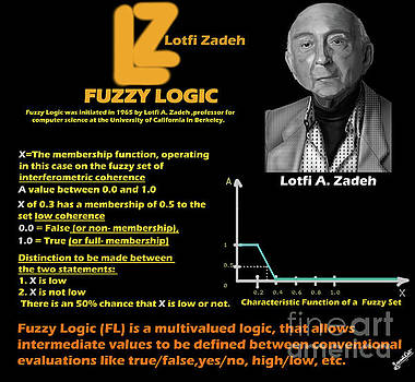 Fuzzy Logic and Lotfi A.Zadeh by Artist Nandika Dutt
