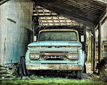 G M C Old Truck in the Shade, Americana by Melissa Bittinger
