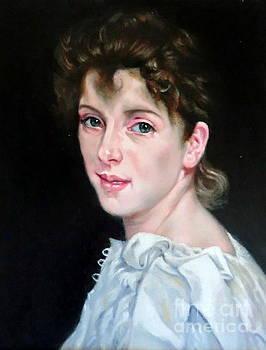 Gabrielle after W. Bouguereau by Hidemi Tada