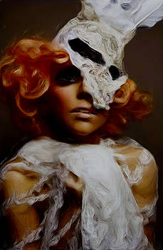 Gaga in white by Leeann Stumpf
