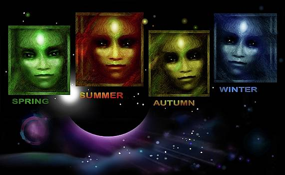 Gaia's  Seasons  by Hartmut Jager