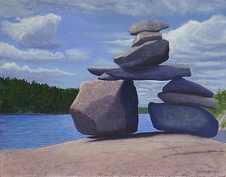 Gainey Lake Inukshuk by Doug Goodale