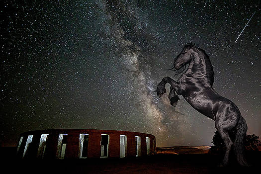 Galactic Friesian Fantasy by Wes and Dotty Weber
