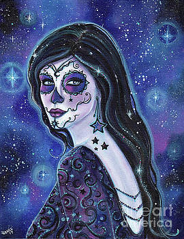 Galaxy between us day of the dead by Renee Lavoie