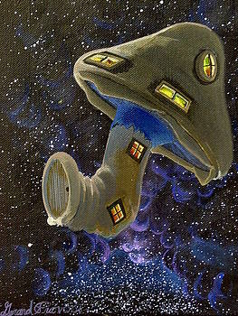 Button in Space by Gerard Provost
