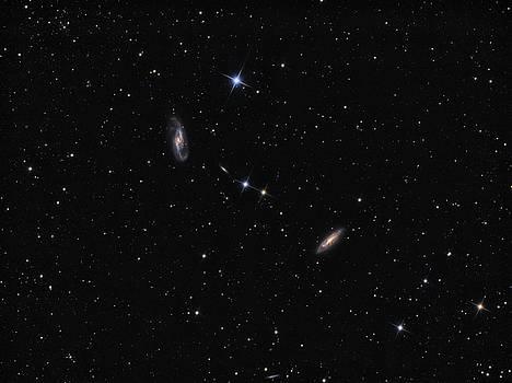 Galaxy NGC 4536, NGC 4527 and NGC 4533 in constellation Virgo by Lukasz Szczepanski