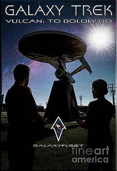 Galaxy Trek  Vulcan To Boldly Go Poster  Pilot Episode by Brad Allen Fine Art