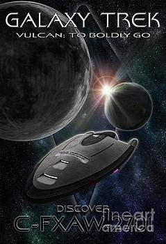 Galaxy Trek  Vulcan To Boldly Go Poster  Starship by Brad Allen Fine Art