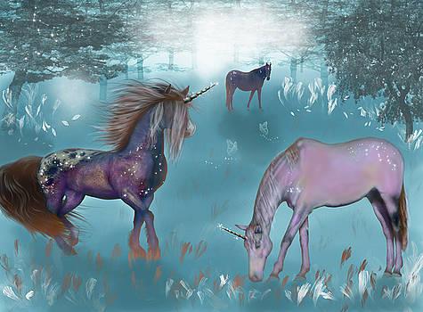 Galaxy unicorn by Lisa Stanley