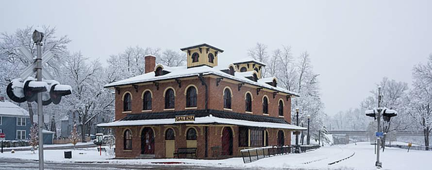 Galena Depot Snowfall by Steve Gadomski