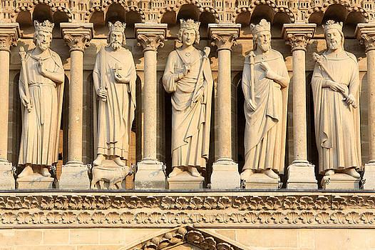Galerie Des Rois Catherdrale Notre Dame De Paris France by Catherine Leblanc