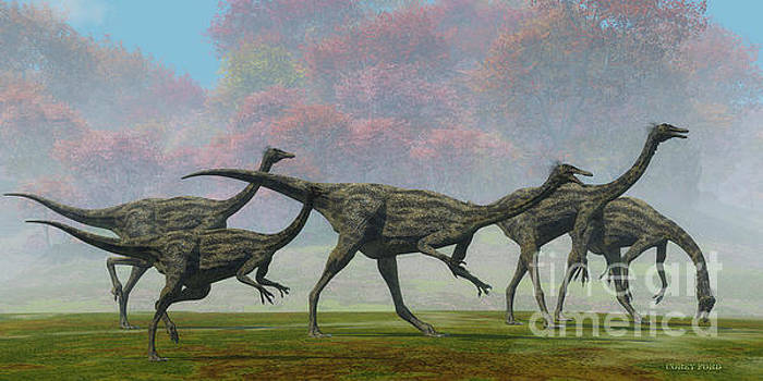 Corey Ford - Gallimimus Dinosaur Fall Day