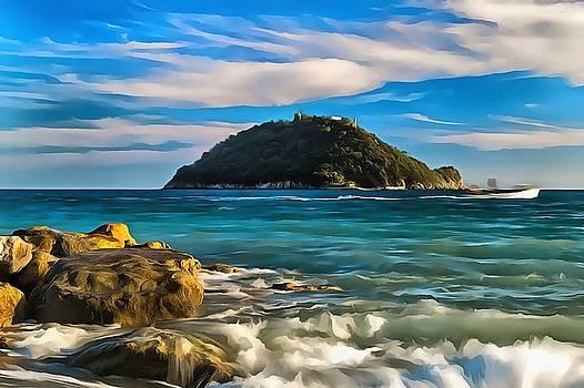 Enrico Pelos - GALLINARA ISLAND - ISOLA della GALLINARA paint
