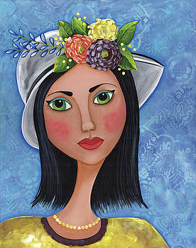 Gals in hats by Clover Moon Designs Peggy Sowers-Heckman
