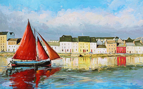 Galway Hooker Leaving Port by Conor McGuire