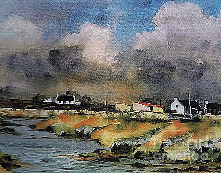 Val Byrne - GALWAY...Storm clouds over Sruthan