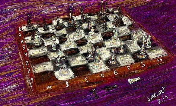 Game Of Chess by Lazar Caran