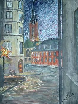Gamla Stan toward Ridderholmen  by John Prenderville