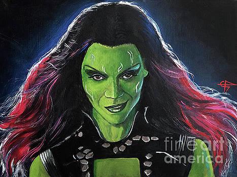 Gamora by Tom Carlton