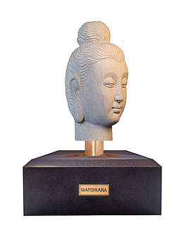 Buddha sculpture - Gandhara by Terrell Kaucher