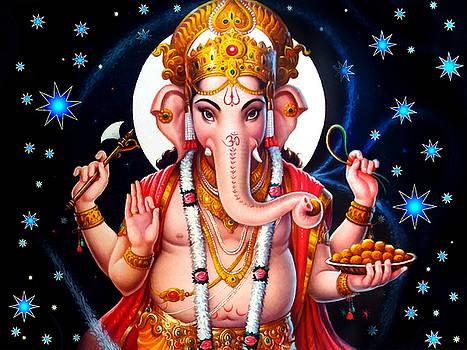 Ganesh Twilight by Khalil Art