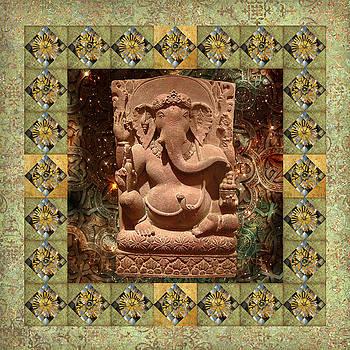 Ganesha Green Border by Susan Ragsdale