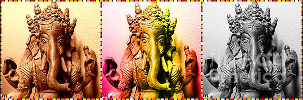 Ganesha Triptych by Lita Kelley