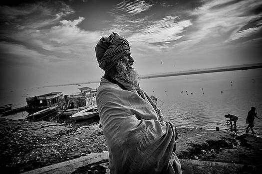Ganges Holy Man by David Longstreath